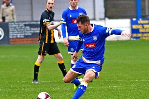 Rob Wilson scored for Lancaster City. Picture: Tony North.