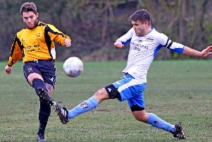 Lancaster Boys Club FC (white) v Marsh United (yellow). Pictures by Tony North.