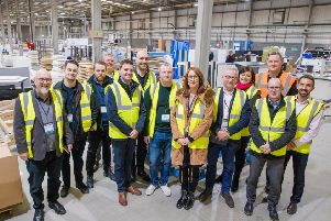 Delegates of the Made Smarter Leadership Programme during a visit to Veka.
