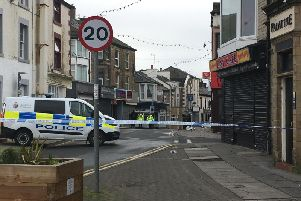 Queen Street in Morecambe following a recent knife attack.