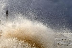 Stormy seas in Blackpool