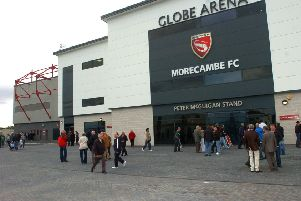 The Globe Arena, home of Morecambe FC.