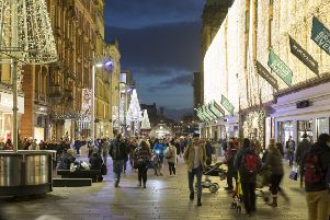 Buchanan Street is one of the main shopping streets in Glasgow city centre.