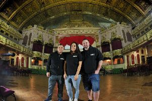 Djs Dave Lee, Summer Jenkins and Matt Thiss of the Escape inside the Morecambe Winter Gardens. Picture by Neil Cross.