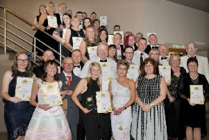 Photo: David Hurst Sunshine Awards Ball at Midland Hotel, Morecambe.  Winners and Highly Commended