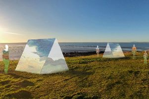 Settlement, an artist's impression of the artwork due to be unveiled in Heysham.
