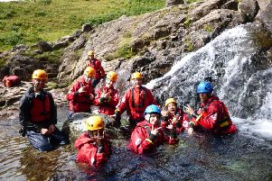 A group of eight young people affected by cancer enjoyed an action-packed resilience-building day in the Lake District thanks to CancerCare.