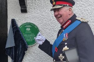 Lord Lieutenant of Lancashire, Lord Shuttleworth, opening Poulton's community hall, the Vicarage Park Community Centre, last year