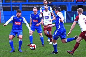 Lancaster City won late on on Saturday. Picture: Tony North.
