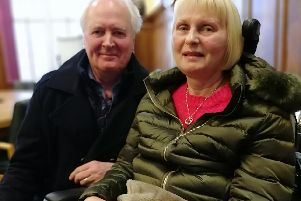Vicky Round and her husband Nigel asked a health committee to support a charter for motor neuron patients