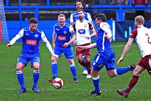 Lancaster City's unbeaten run came to an end at the weekend. Picture: Tony North