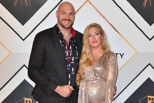 Boxer Tyson Fury and wife Paris