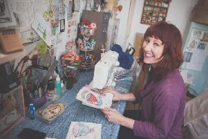 Textile artist Priscilla Edwards is holding a workshop this weekend at Harpers Mill in Lancaster.