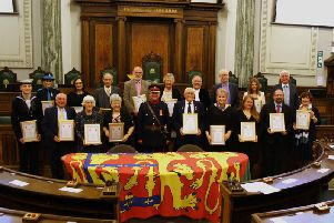 Members of the community who received an award from the High Sheriff of Lancashire