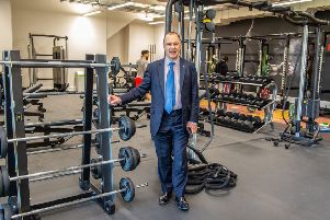 The university's Vice-Chancellor Prof Mark E. Smith officially opened the new enhanced sports facilities.
