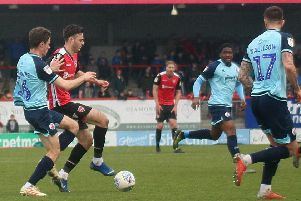 Morecambe were victorious against Crawley Town at the Globe Arena last weekend