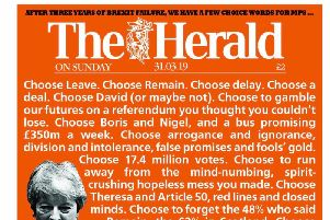 The Herald's striking front page