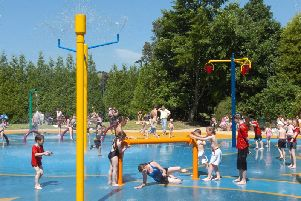 Splash park at Happy Mount Park