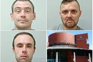 Three Morecambe men jailed for total of 40 years after armed robberies