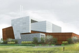 An artist's impression of the proposed energy recovery facility in Heysham