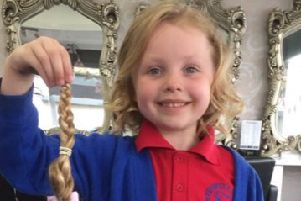 Jessica Howard has had her hair cut off to donate to the Little Princess Trust. She has also raised over �1000 to donate to the trust.
