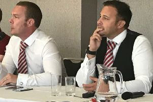 Morecambe owners Jason Whittingham and Colin Goldring