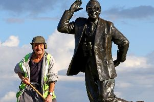 Michael Morgan is helping keep Morecambe clean. Picture by Tony North.