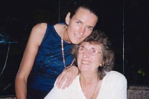 Thelma Burrow pictured with her daughter, Cath McLennan.