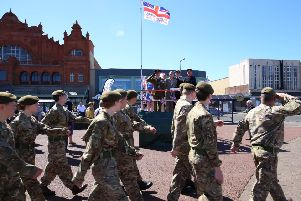 Armed Forces Day in Morecambe drew large crowds. Picture by David Hodgson.