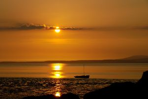 Morecambe Bay sunset by Soencer Ross