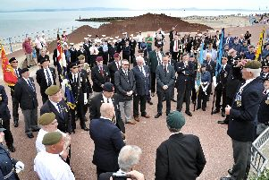 Briefing before the parade. Armed Forces Day Parade, Morecambe