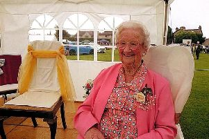 Gladys, pictured at Caton Gala in 2016 when she was Gala President.