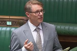 David Morris MP speaking in Parliament.