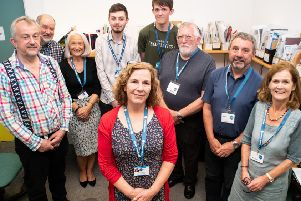 Helen Greatorex with her team of volunteers at Morecambe's Citizens Advice Bureau as it celebrates 80 years.  Photo: Kelvin Stuttard