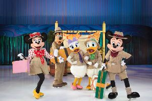 Disney On Ice stars Mickey and Minnie Mouse with pals on a Passport To Adventure which plays Sheffield's  Fly DSA Arena from November 15 to 19, 2017