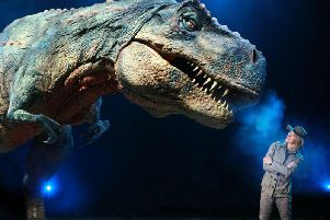 Michaela Strachan will come face to face with this giant T-Rex on the Walking with Dinosaurs 2018 Tour