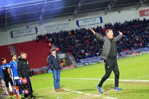 Doncaster Rovers manager Darren Ferguson appeals. Picture: Marie Caley