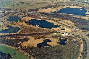 An aerial view of Potteric Carr nature reserve