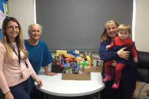 Staff at Wellholme Park Childrens Centre donated to Brighouse Food Bank.