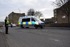 Police vehicles were blocking Pellon Lane for two hours after the collision