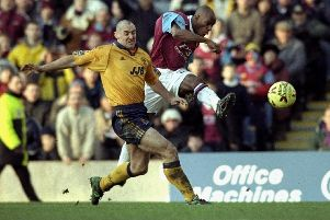 Ian Wright of Burnley in action during the Nationwide League Division Two game against Wigan Athletic played at Turf Moor