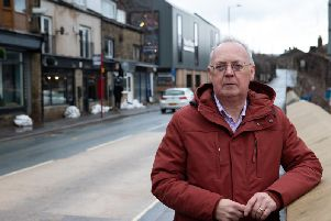 Leader of Calderdale Council, coun Tim Swift, in Mytholmroyd - one of the worst-hit areas in the country after Storm Ciara