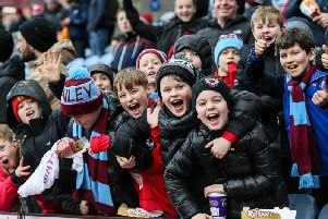 These young fans enjoyed the draw with Manchester City