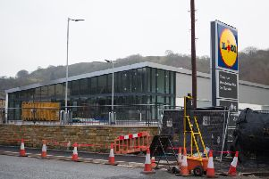 Site of new Lidl in Todmorden