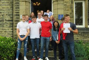 Students from Hipperholme Grammar pick up their results
