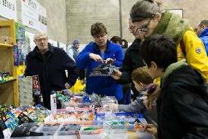 Calder Valley Brick Show, organized by Bricks4Kidz - all profits raised from the event will go to the charity that manages the Mytholmroyd community centre