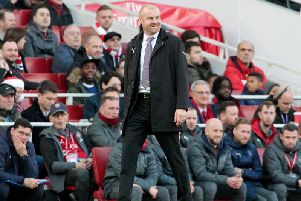 Sean Dyche managed to find something to smile about during the 3-1 defeat at Arsenal