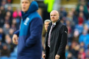 Sean Dyche watches on from the sidelines