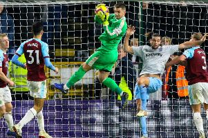 Tom Heaton returned in goal for his first Premier League game since dislocating his shoulder against Crystal Palace last season