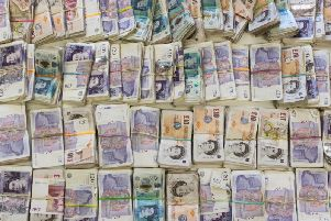 The cash seized by HMRC investigator in Halifax.